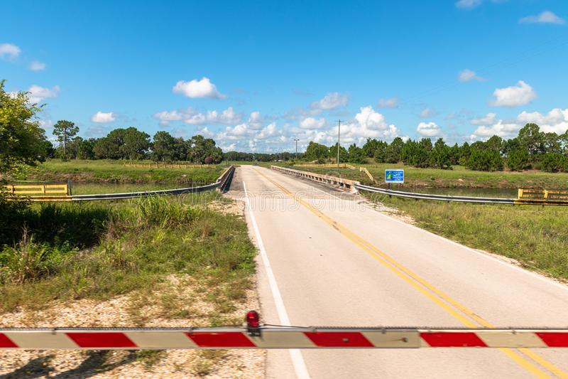 Level Crossing in Florida, USA stock image