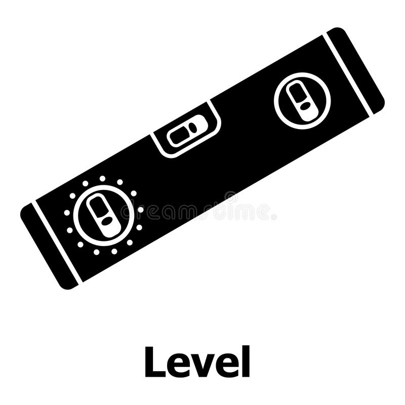 Level icon, simple black style. Level icon. Simple illustration of level vector icon for web royalty free illustration