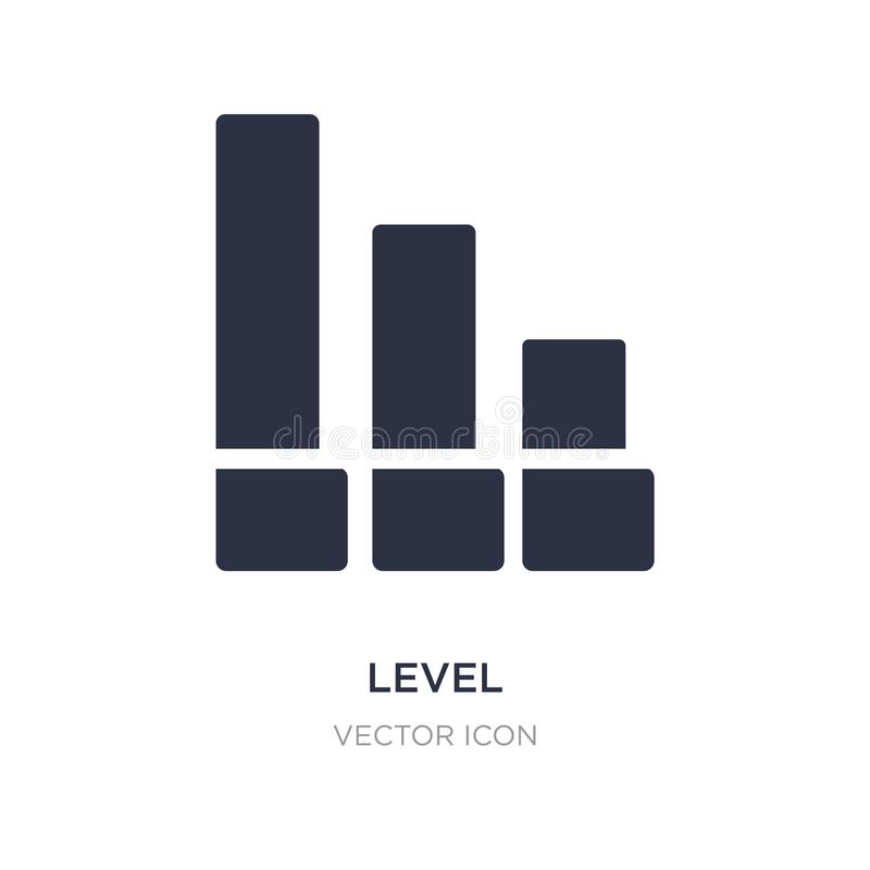Level icon on white background. Simple element illustration from UI concept. Level sign icon symbol design royalty free illustration