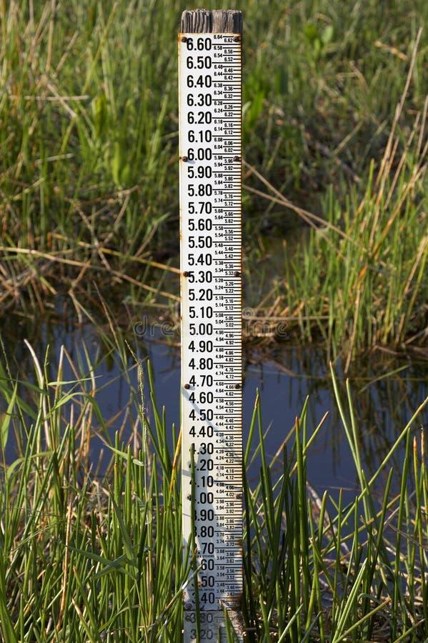 level mätningsvatten för gauge arkivfoton