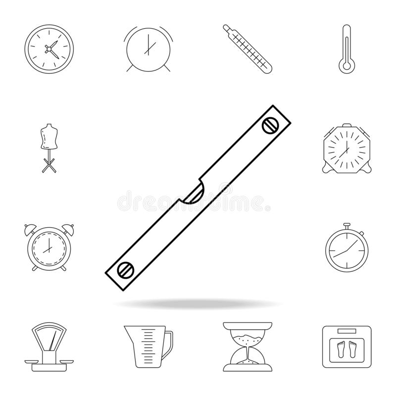 Level meter icon. Detailed set of measuring instruments icons. Premium graphic design. One of the collection icons for websites,. Web design, mobile app on stock illustration