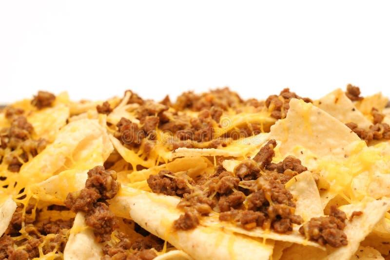 level nachos för ost arkivfoto