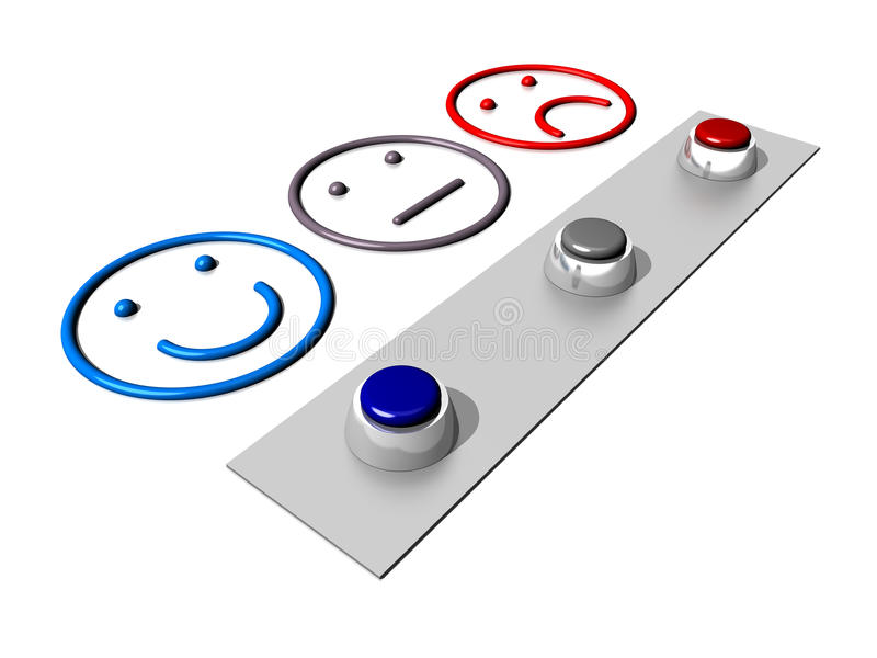 Level of satisfaction. Set of buttons related to the selection of a satisfaction level