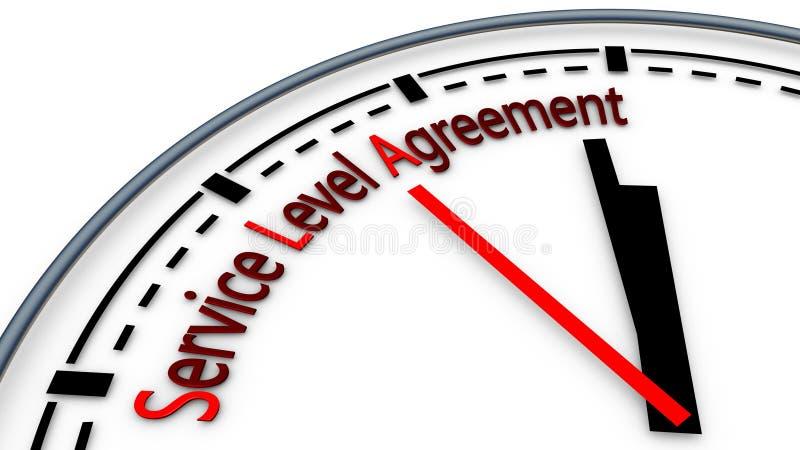 level servicesla för överenskommelse stock illustrationer