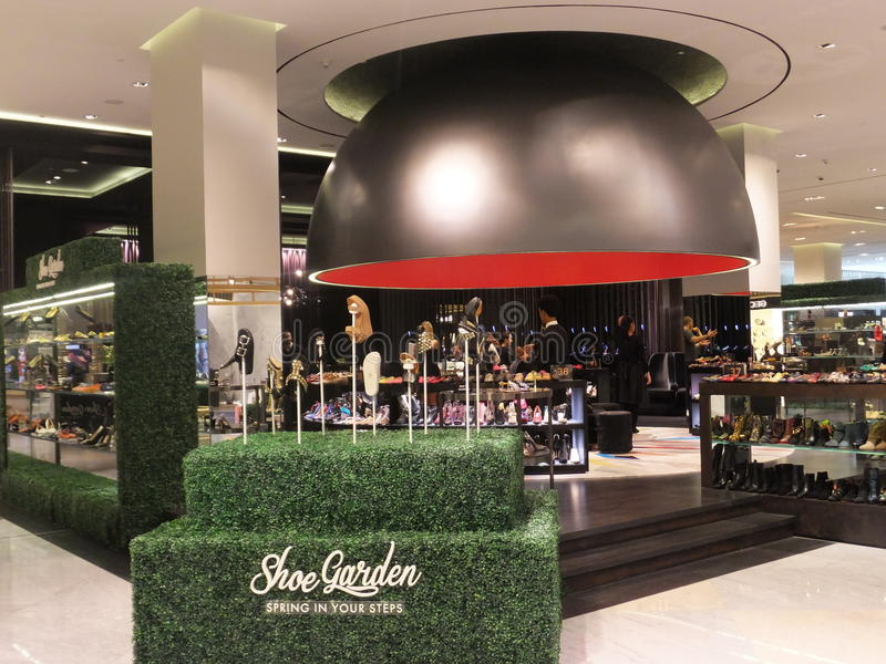 Level Shoe District at Dubai Mall in Dubai, UAE. Level Shoe District (Shoe Garden) at Dubai Mall in Dubai, UAE. The Dubai Mall is the world's largest shopping stock photo
