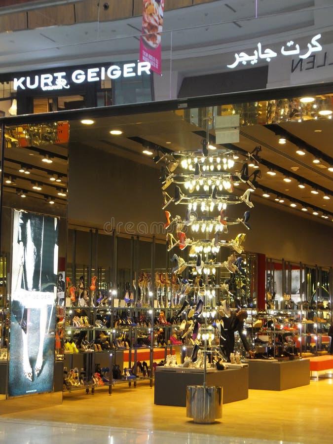 Level Shoe District at Dubai Mall in Dubai, UAE. Level Shoe District (Shoe Garden) at Dubai Mall in Dubai, UAE. The Dubai Mall is the world's largest shopping royalty free stock images