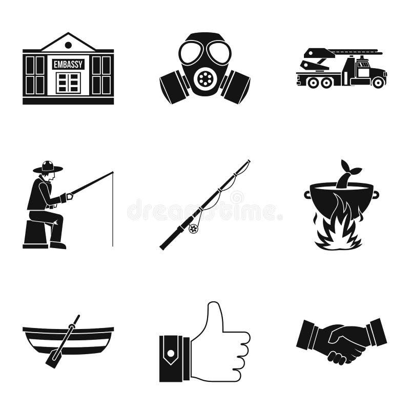 Level up icons set, simple style. Level up icons set. Simple set of 9 level up vector icons for web isolated on white background vector illustration