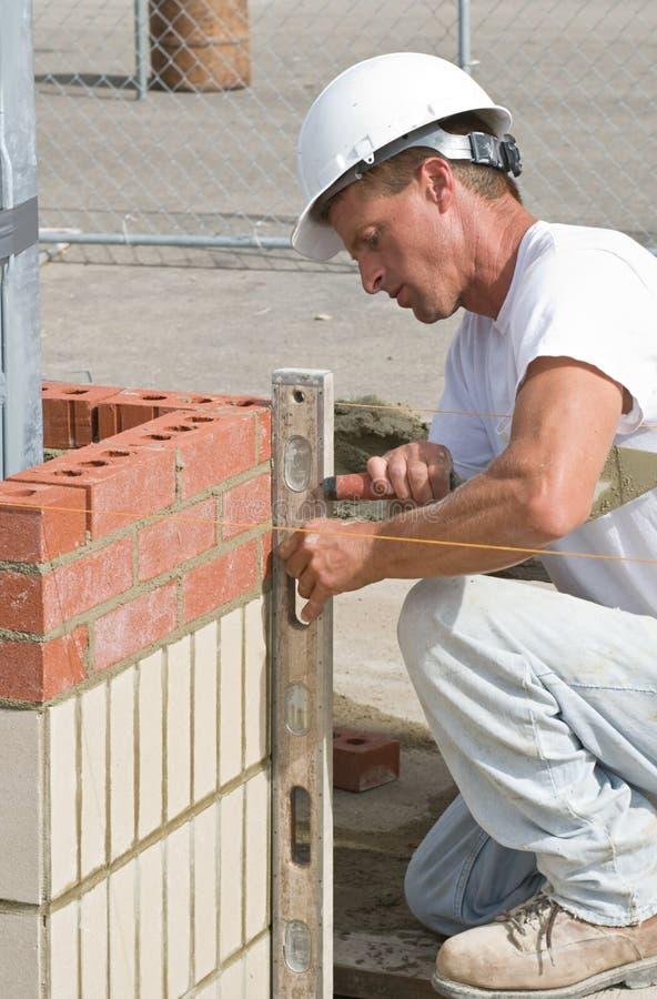 Leveling Bricks Royalty Free Stock Images