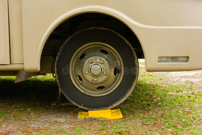 A leveling device for an rv stock photography