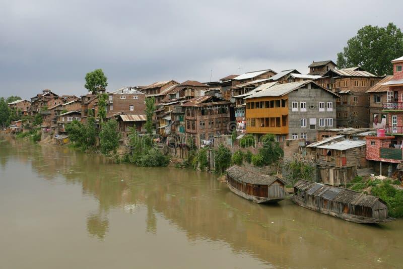 Levend in Srinagar, Kashmir royalty-vrije stock fotografie