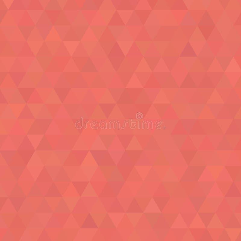 Levende Coral Shades Background Square van Driehoeken stock illustratie