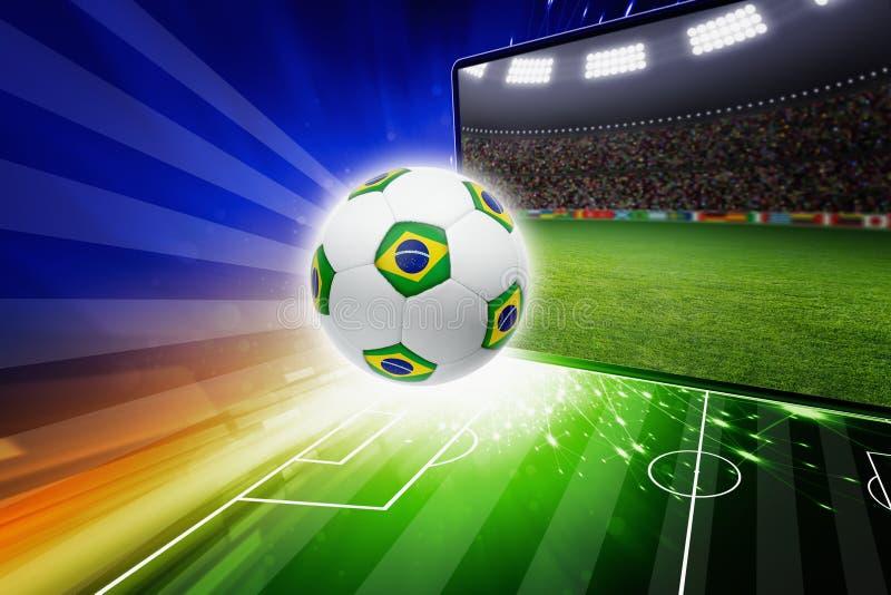 Levende het voetbal van Brazilië stock illustratie