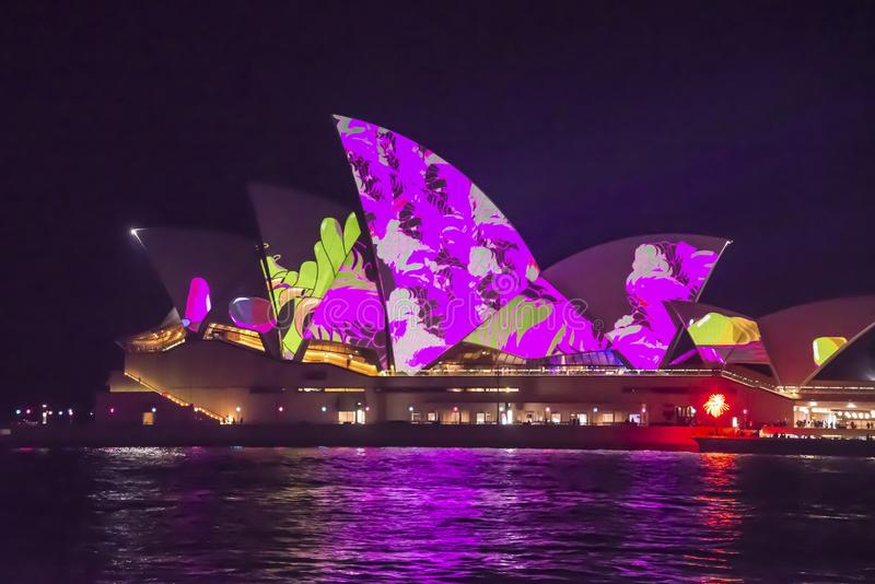 Levendig Festival, Sydney Opera House, Australië stock afbeeldingen