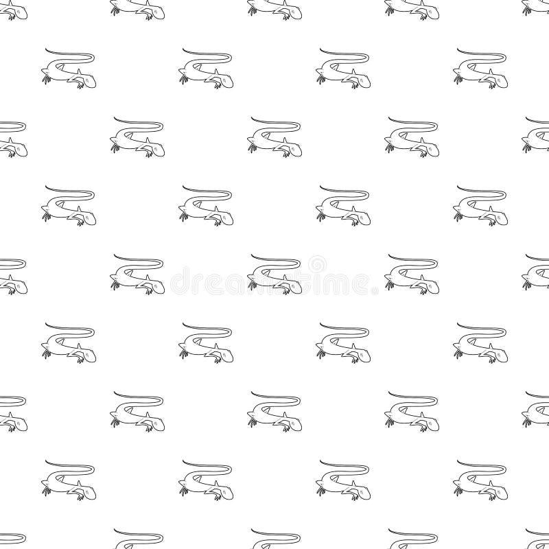 Levendig hagedispictogram, overzichtsstijl royalty-vrije illustratie