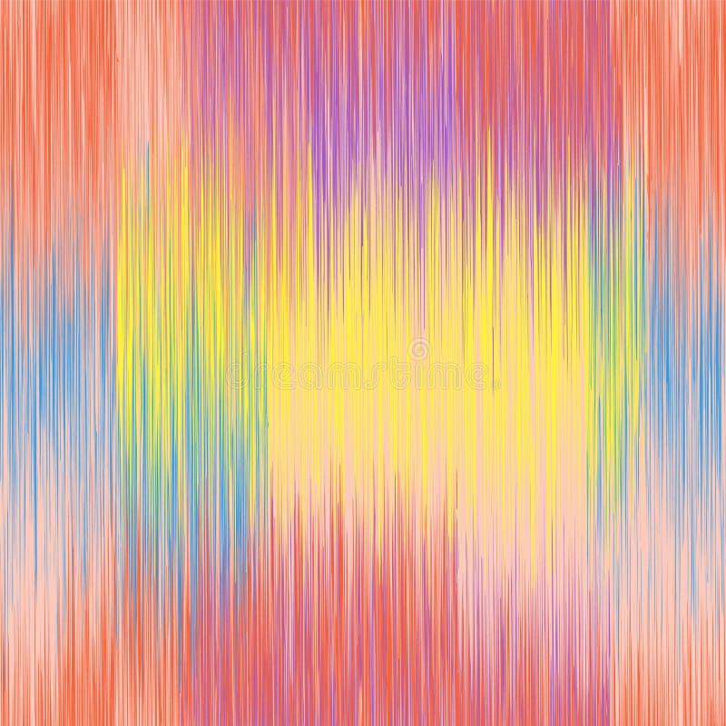 Levendig regenboog grunge gestreept verticaal naadloos patroon stock illustratie