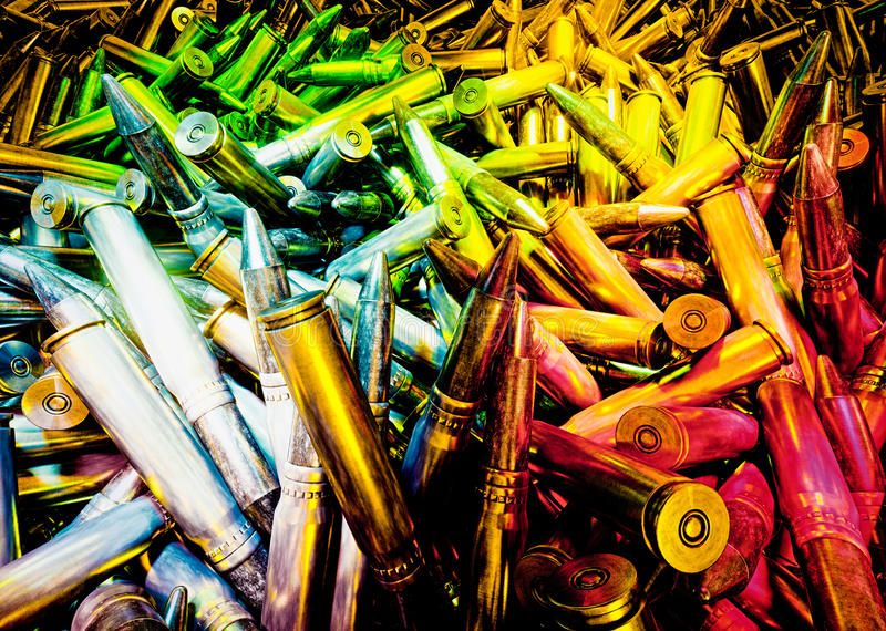 Levendige abstracte illustratieod munitie vector illustratie