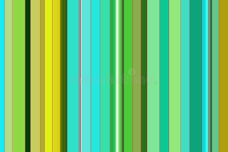 Levendige achtergrond en lijnen in groene gele tinten vector illustratie