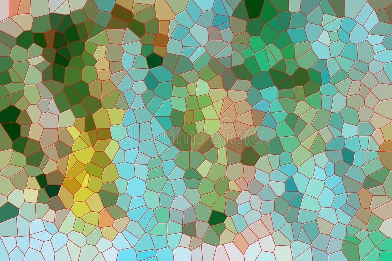 Levendige achtergrond en vormen in groene gele tinten vector illustratie