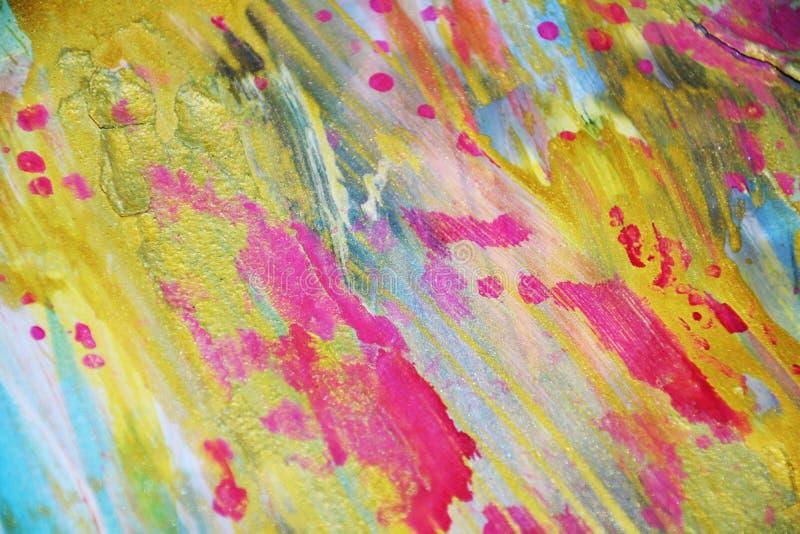 Levendige fonkelende was gebrande pastelkleur abstracte achtergrond in gouden tinten vector illustratie