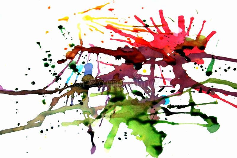 Levendige inkt splats stock illustratie