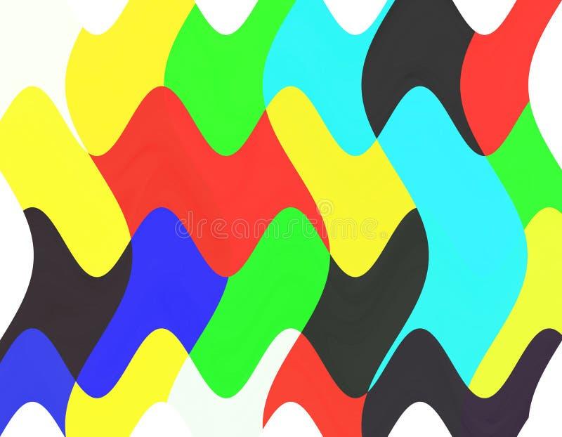 Levendige kleurrijke pop grafiek als achtergrond, abstracte achtergrond en textuur vector illustratie