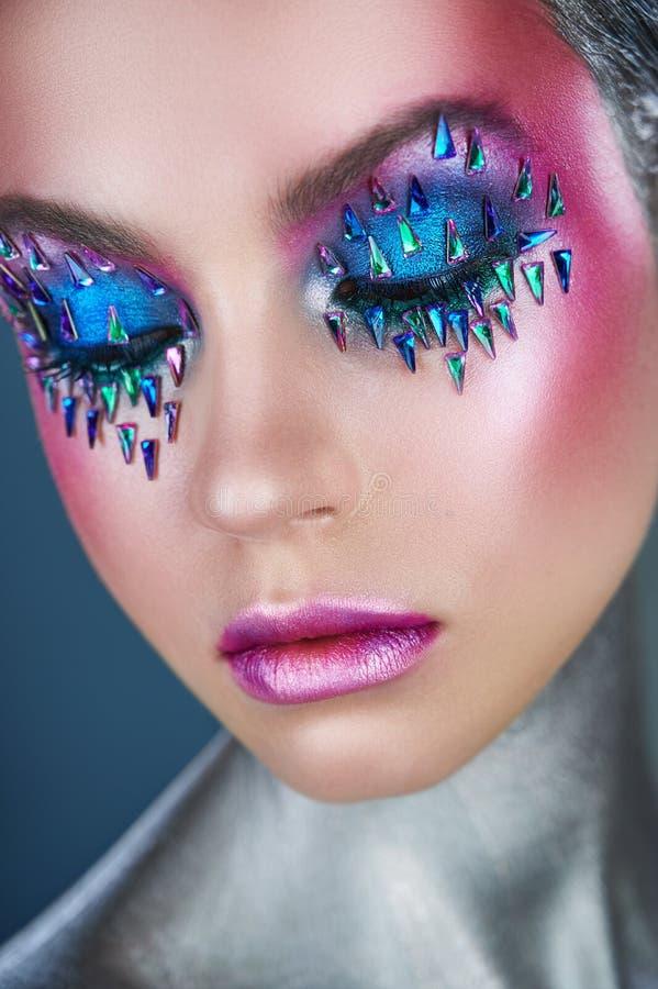 Levendige make-up stock afbeeldingen