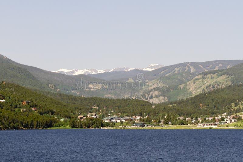 Levensechte mening van Nederland, Colorado, over Barker Reservoir royalty-vrije stock foto