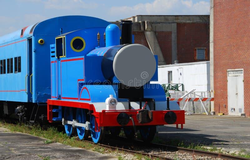Levensgrote stuk speelgoed trein stock afbeeldingen