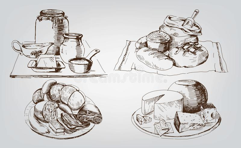 Levensmiddelen vector illustratie