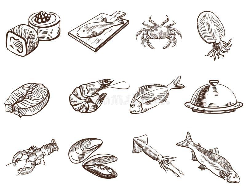 levensmiddelen stock illustratie