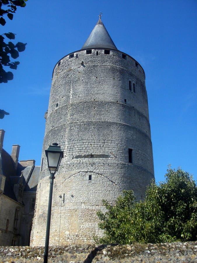 Levensonderhoud van chateaudunkasteel Frankrijk stock afbeeldingen