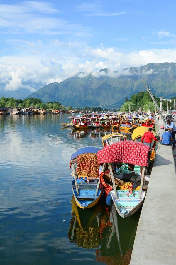 Levensstijl in Dal meer, Srinagar royalty-vrije stock foto's