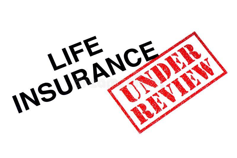 Levensverzekering onder Overzicht royalty-vrije stock afbeelding