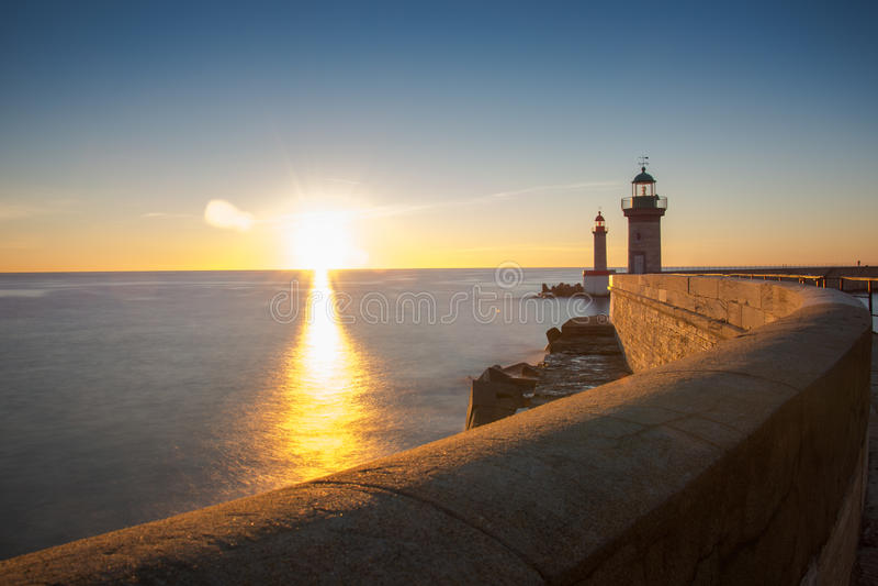 Lever de soleil à Bastia images stock