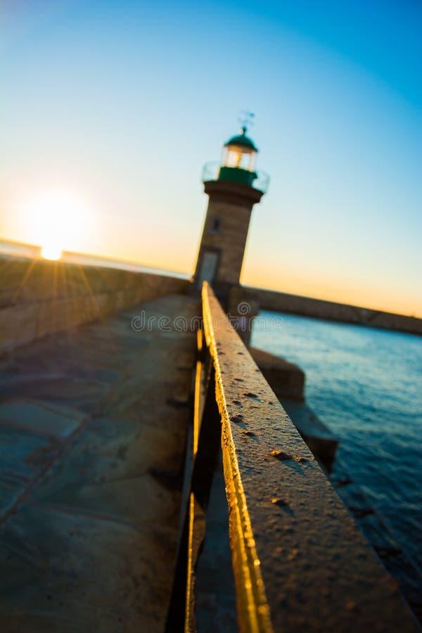 Lever de soleil à Bastia photographie stock