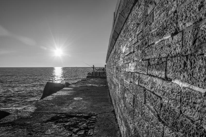 Lever de soleil à Bastia image stock
