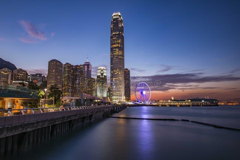 Lever de soleil à Hong Kong images stock
