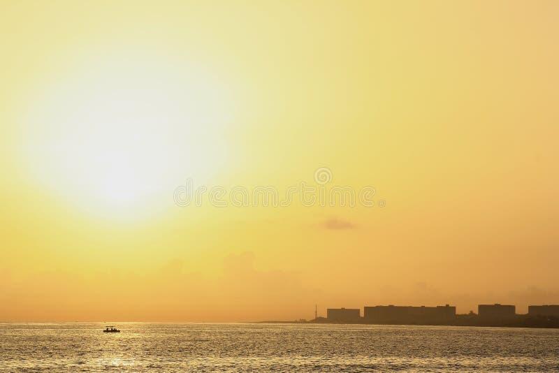 Lever de soleil à La Havane photographie stock