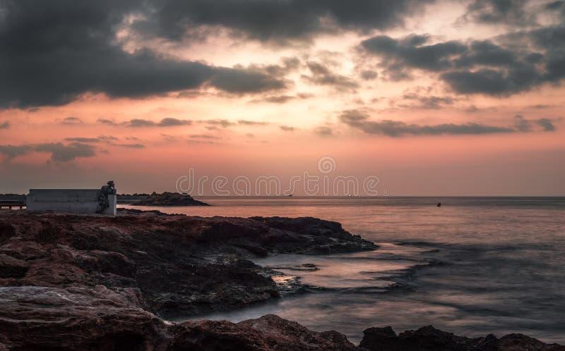 Lever de soleil à la mer photographie stock