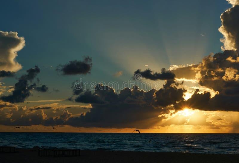 Lever de soleil à Miami photos libres de droits