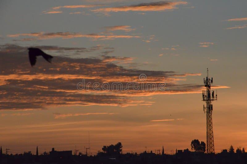 Lever de soleil à Puebla image stock
