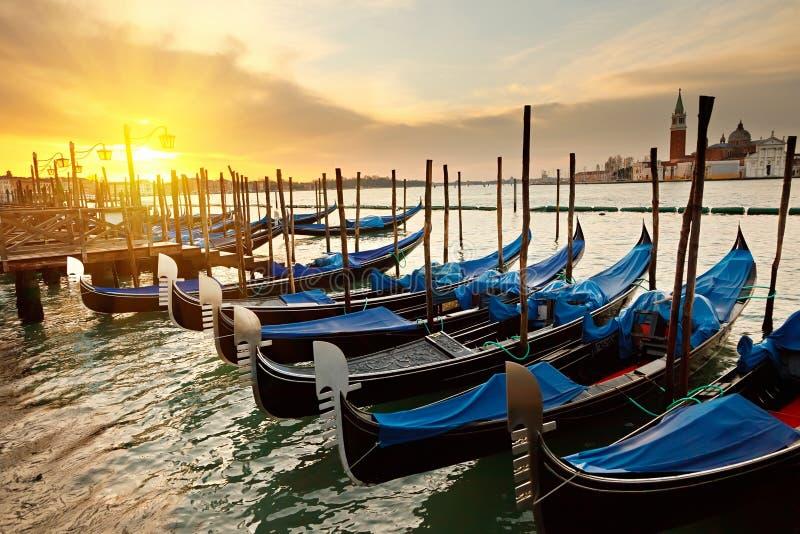 Lever de soleil à Venise images libres de droits