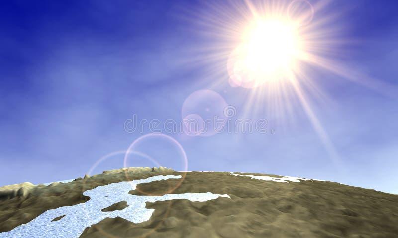 Lever de soleil 1 du monde illustration libre de droits