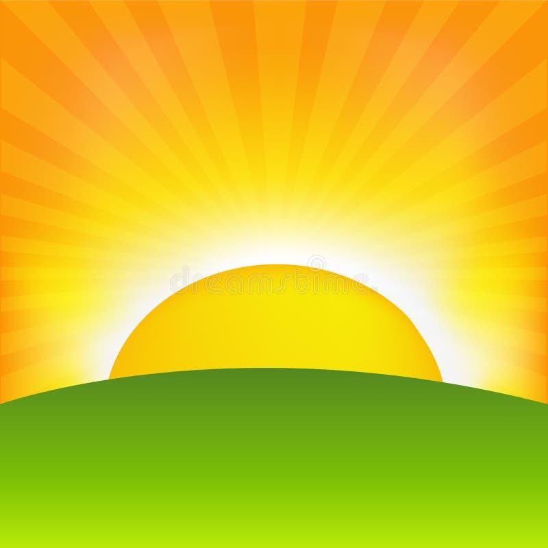 Lever de soleil illustration libre de droits