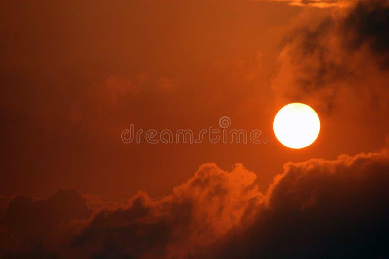 Lever de soleil ambrin dans la baie vermeille en Louisiane du sud photos libres de droits