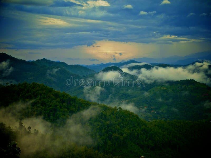 Lever de soleil Annapurna Himal, Népal Himalaya photographie stock libre de droits