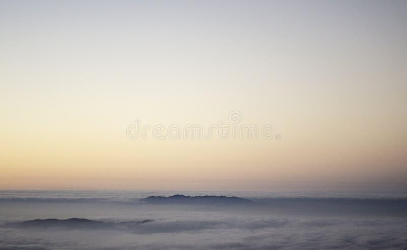 Lever de soleil au-dessus de la Californie photos libres de droits