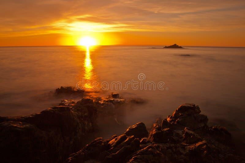 Lever de soleil au-dessus de South Pacific photographie stock libre de droits