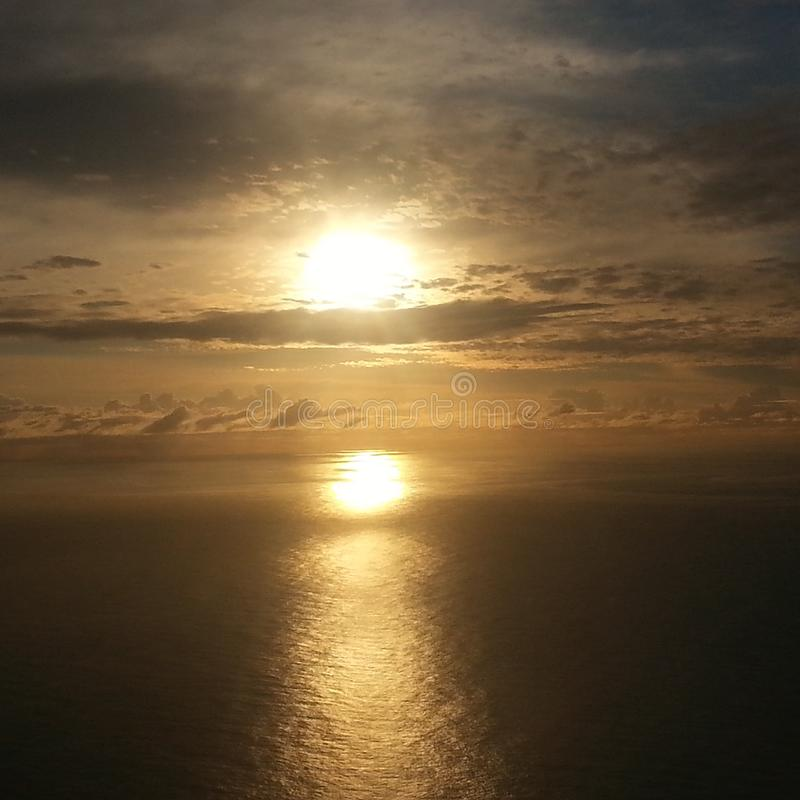 Lever de soleil au-dessus de Sydney Australia image stock