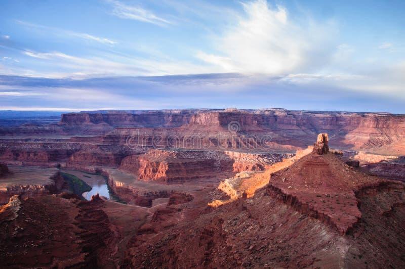 Lever de soleil au point Utah de cheval mort images stock